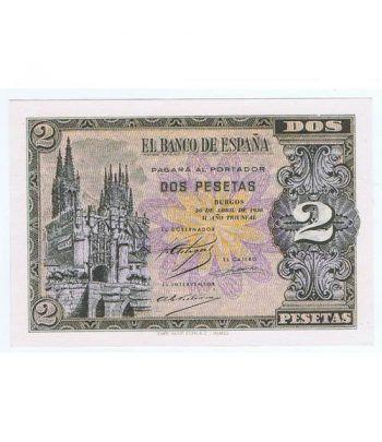 (1938/04/30) Burgos. 2 Pesetas. SC. Serie F6966976  - 1