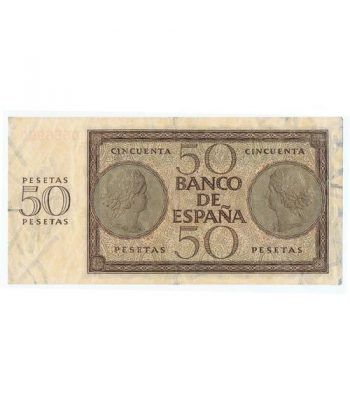(1936/11/21) Burgos. 50 Pesetas. MBC. Serie O556990  - 4