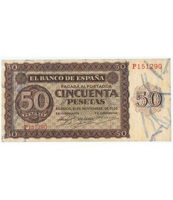 (1936/11/21) Burgos. 50 Pesetas. MBC. Serie P151290  - 1