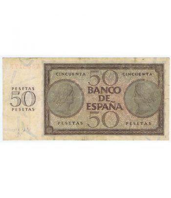 (1936/11/21) Burgos. 50 Pesetas. MBC-. Serie A568177  - 4