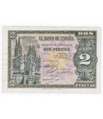 (1938/04/30) Burgos. 2 Pesetas. EBC+. Serie L7315183  - 1