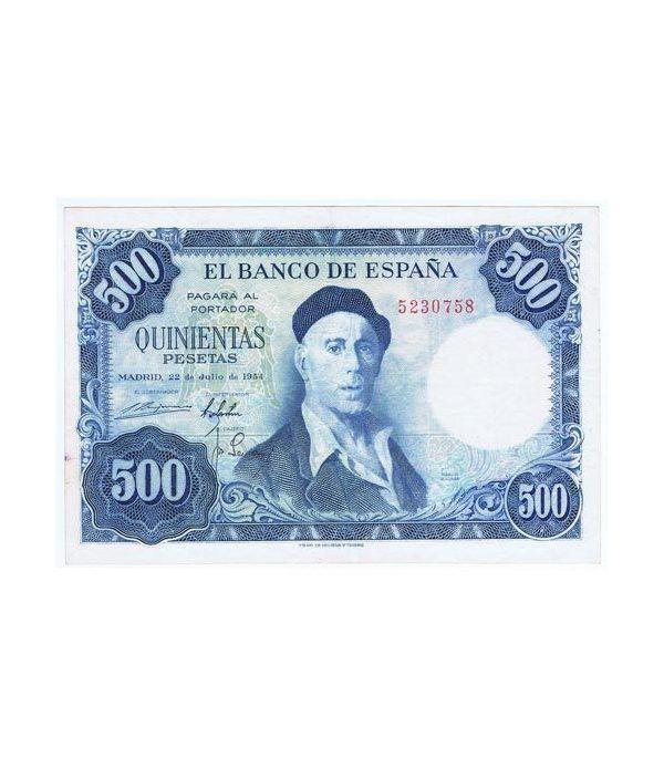 (1954/07/22) Madrid. 500 Pesetas. MBC. Sin Serie 5230758  - 1