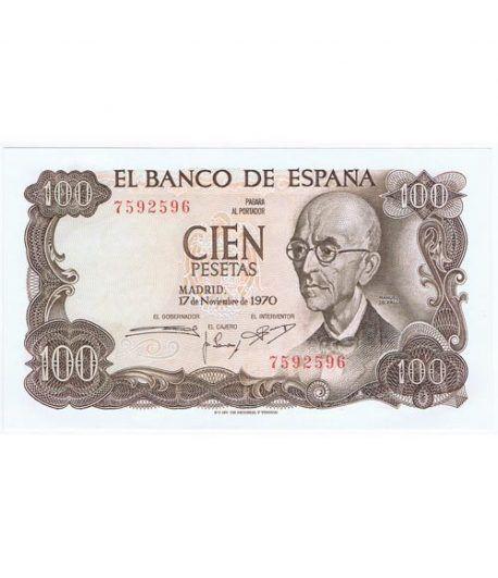 (1970/11/17) Madrid. 100 Pesetas. SC. Sin Serie 7592596  - 1