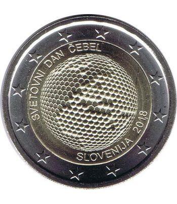 moneda conmemorativa 2 euros Eslovenia 2018 Abejas.  - 2
