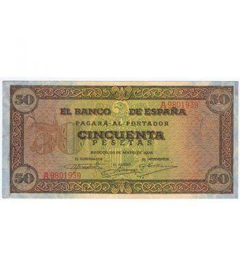 (1938/05/20) Burgos. 50 Pesetas. EBC. Serie A9801939  - 1