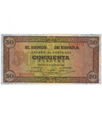 (1938/05/20) Burgos. 50 Pesetas. EBC. Serie B5968946  - 1