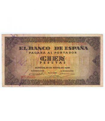 (1938/05/20) Burgos. 100 Pesetas. EBC. Serie B7735860  - 2