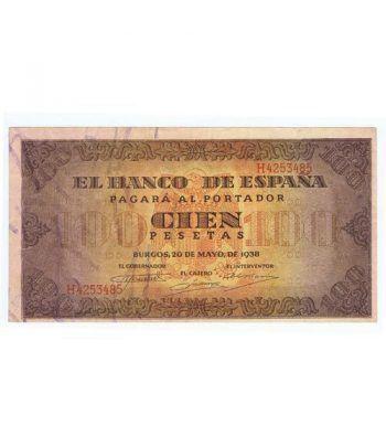(1938/05/20) Burgos. 100 Pesetas. EBC. Serie H4253485  - 1