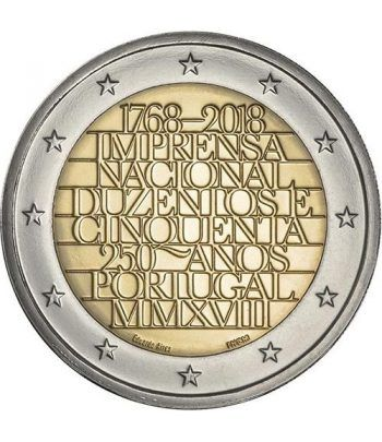 moneda conmemorativa 2 euros Portugal 2018 Imprenta.  - 2