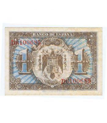 (1940/06/01) Madrid. 1 Peseta. SC. Serie D6100685.  - 4