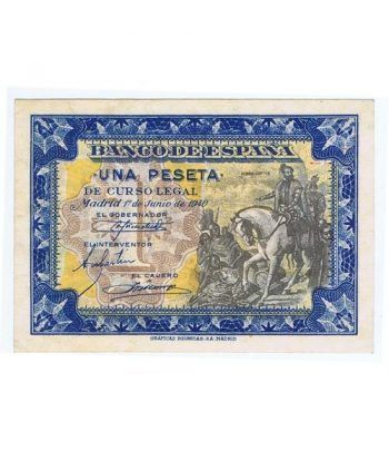 (1940/06/01) Madrid. 1 Peseta. SC. Serie D6100685.  - 1