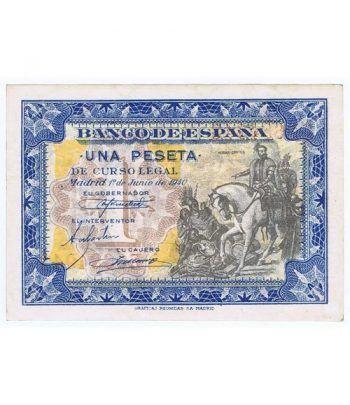 (1940/06/01) Madrid. 1 Peseta. SC. Serie E0684943  - 4