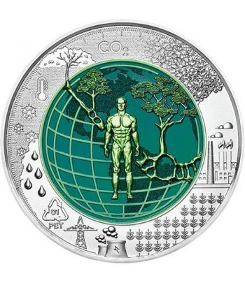 moneda Austria 25 Euros 2018 Antropoceno niobio-estuche.  - 1