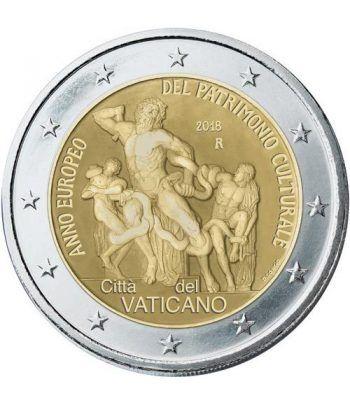 moneda conmemorativa 2 euros Vaticano 2018 Patrimonio.  - 2