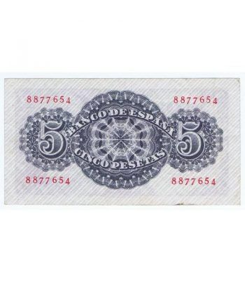 (1947/04/12) Madrid. 5 Pesetas. MBC+. Sin Serie 8877654  - 4