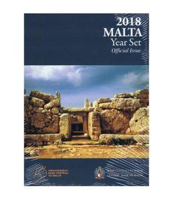 Cartera oficial euroset Malta 2018. Incluye 2€ conmemorativos  - 2