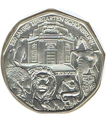 moneda Austria 5 Euros 2002 (nueve esquinas) Zoo. Oso Polar  - 1