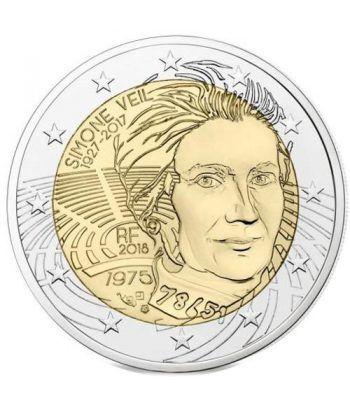 moneda conmemorativa 2 euros Francia 2018 Simone Veil  - 2