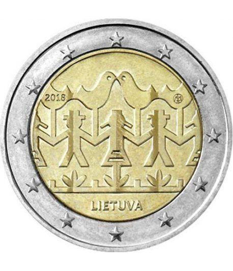 moneda conmemorativa 2 euros Lituania 2018 Festival Música.  - 2