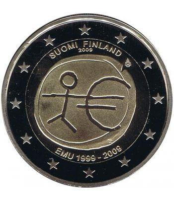 """moneda Finlandia 2 euros 2009 """"10 Años de la EMU"""". Proof.  - 2"""