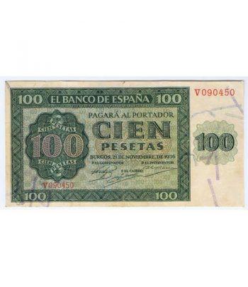 (1936/11/21) Burgos. 100 Pesetas. MBC.  - 2