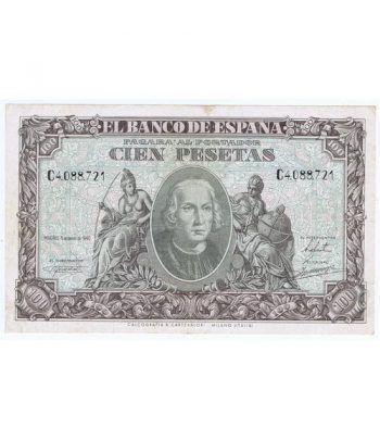 (1940/01/09) Madrid. 100 Pesetas. EBC-.  - 1