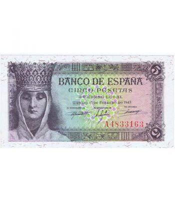 (1943/02/13) Madrid. 5 Pesetas. SC.  - 1
