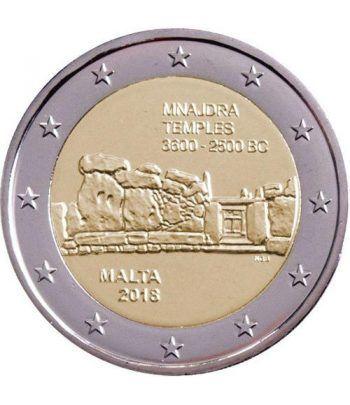 moneda conmemorativa 2 euros Malta 2018 Templos Mnajdra  - 2