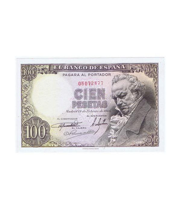 (1946/02/19) Madrid. 100 Pesetas. EBC+. Sin Serie 06072877  - 1