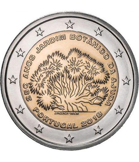 moneda conmemorativa 2 euros Portugal 2018 Jardín Botánico.  - 2