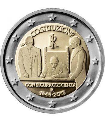 moneda conmemorativa 2 euros Italia 2018 Constitución  - 2