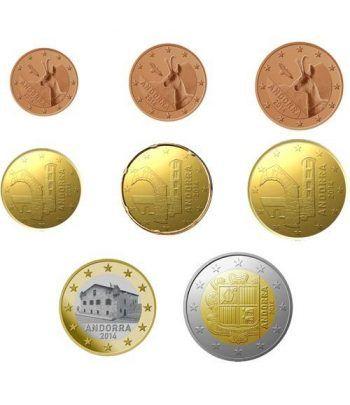 monedas euro serie Andorra mixta.  - 2