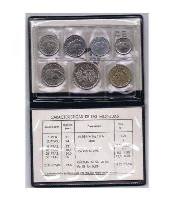 (1984) Cartera Juan Carlos I. 7 monedas  - 2