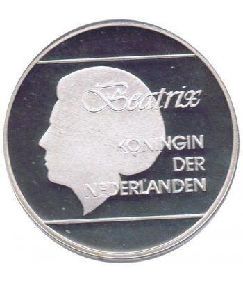 Moneda de plata 25 Florin Aruba 1992 Windsurf Barcelona 92  - 4