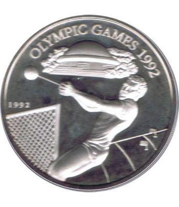 Moneda de plata 10 Tala Samoa i Sisifo 1992. Barcelona 92  - 1