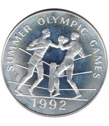 Moneda de plata 25 Dollars Jamaica 1992 Boxeo Barcelona 92  - 1