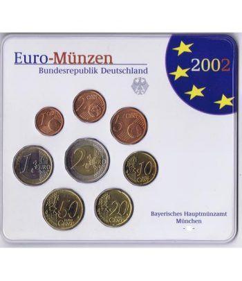 Cartera oficial euroset Alemania 2002 (5 cecas).  - 2