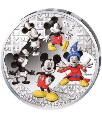Francia 50€ 2016 Mickey a traves de los tiempos. Plata color  - 1