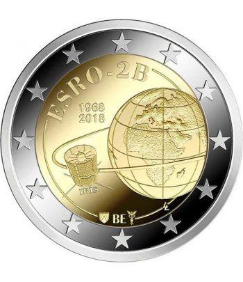 moneda conmemorativa 2 euros Belgica 2018 Satelite ESRO 2B.  - 2