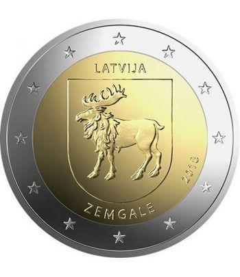 moneda conmemorativa 2 euros Letonia 2018 Zemgale.  - 2