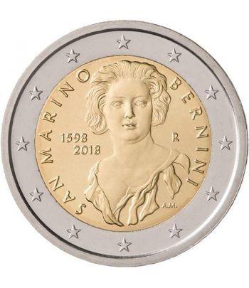 moneda conmemorativa 2 euros San Marino 2018 Bernini.  - 1
