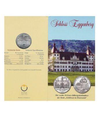 moneda Austria 10 Euros 2002 (Castillo de Eggenberg)-estuche.  - 2