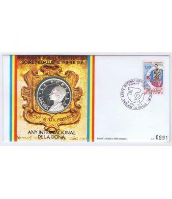 Sobre Medallistico Andorra Medalla La Pubilla 1975  - 1