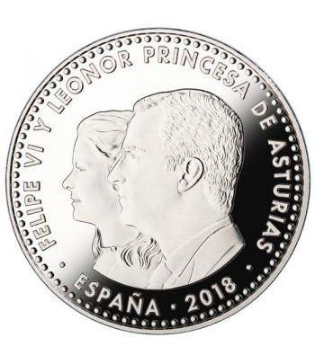 Moneda conmemorativa 30 Euros 2018 Reino de Asturias color.  - 4