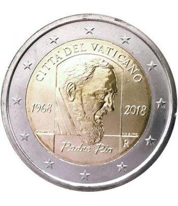 moneda conmemorativa 2 euros Vaticano 2018 Padre Pío.  - 2
