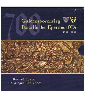 Cartera oficial euroset Belgica 2002  - 1