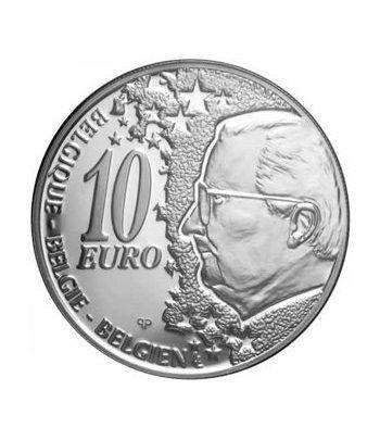 moneda Belgica 10 Euros 2002. Estuche proof. Plata.  - 1