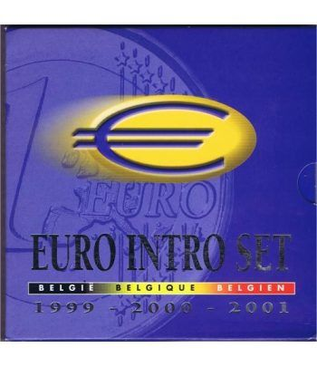 Cartera oficial euroset Belgica 1999 - 2000 - 2001  - 2