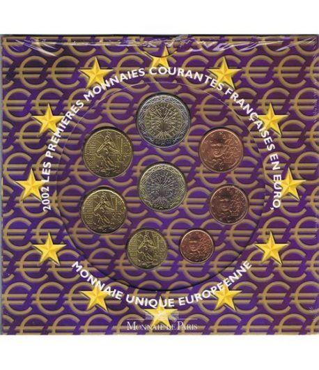 Cartera oficial euroset Francia 2002  - 2