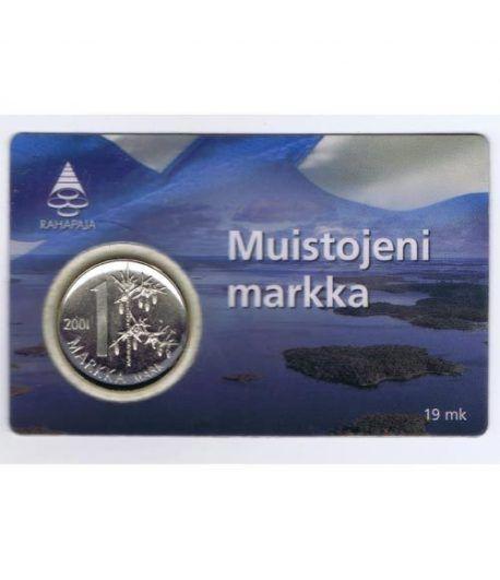 Finlandia 1 Markka 2001. Ultimo Markka antes del euro.  - 1